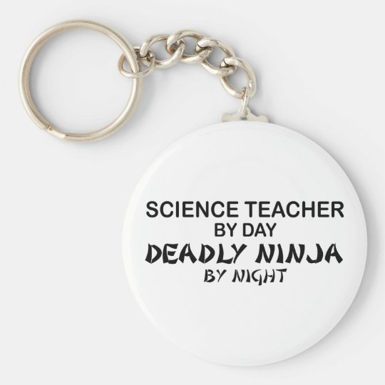 Science Teacher Deadly Ninja Keychain