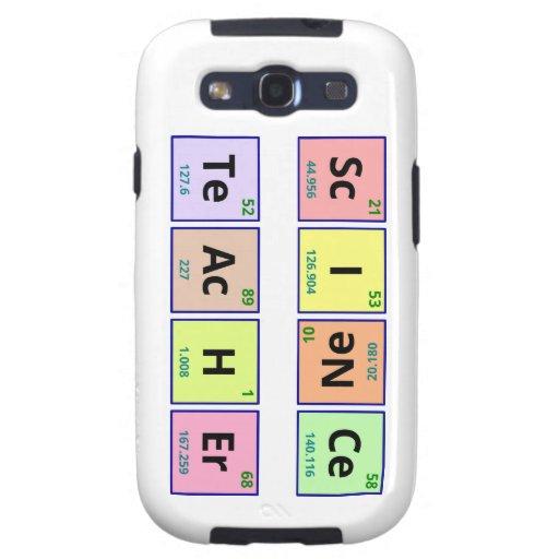 Science Teacher Galaxy S3 Cases