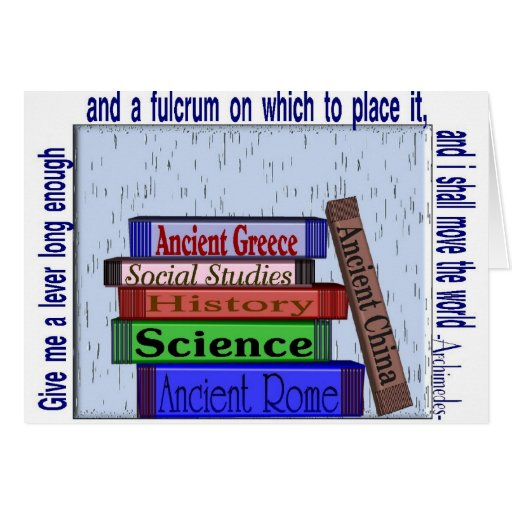 Science Teacher Gifts, Unique Book Stack Design Card