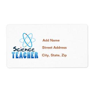 Science Teacher Label