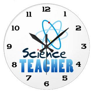 Science Teacher Large Clock