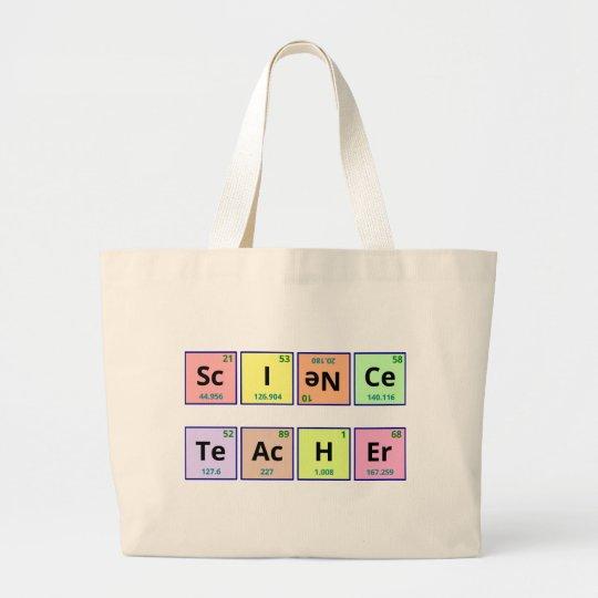 Science Teacher Large Tote Bag