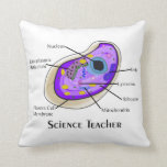 Science Teacher Pillow Human Cell Anatomy