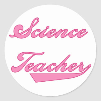 Science Teacher Pink Tshirts and Gifts Classic Round Sticker