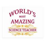 Science Teacher Postcard