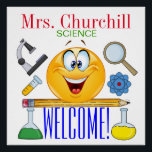 """Science Teacher Poster - SRF<br><div class=""""desc"""">See my Teacher Category for so many popular products and more coming weekly! I do have the precious owls on many of my products, but who says you have to have an owl ... : ) ??? I have many Zazzle posters from this size to HUGE, and I love them...</div>"""