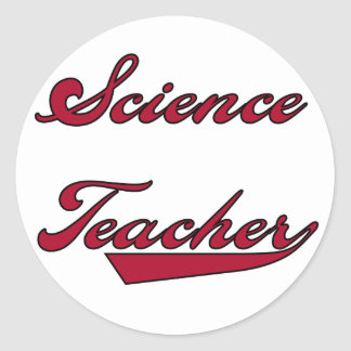 Science Teacher Red Tshirts and Gifts Classic Round Sticker
