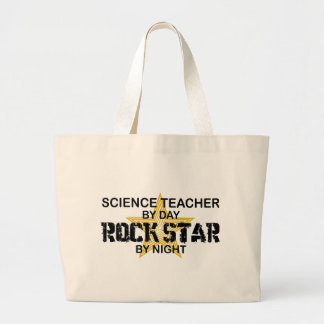 Science Teacher Rock Star by Night Canvas Bags