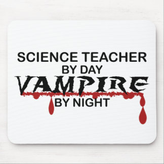 Science Teacher Vampire by Night Mouse Pad