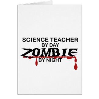 Science Teacher Zombie Card