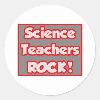 Science Teachers Rock! Classic Round Sticker