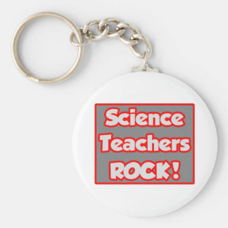 Science Teachers Rock! Keychain