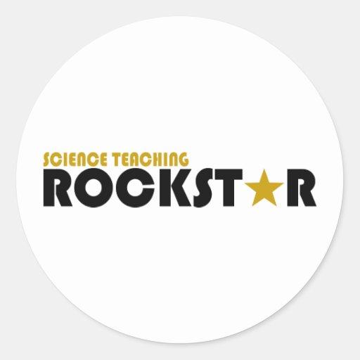 Science Teaching Rockstar Classic Round Sticker