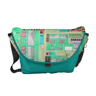 Science Tech Map of Sound Waves Messenger Bags