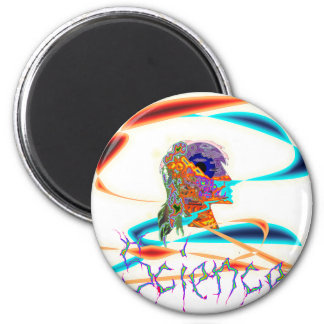 Science technicolor 2 inch round magnet