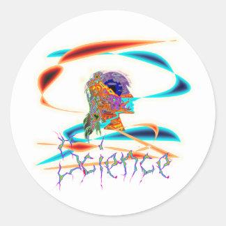 Science technicolor classic round sticker