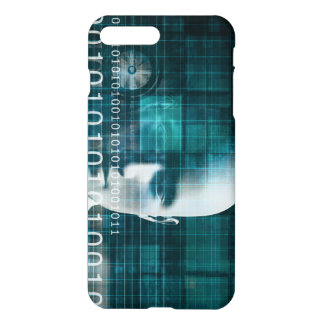 Science Technology Background as a Binary iPhone 7 Plus Case