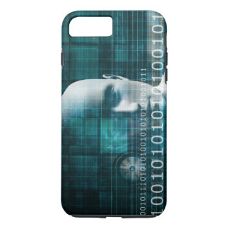 Science Technology Background as a Digital Binary iPhone 7 Plus Case