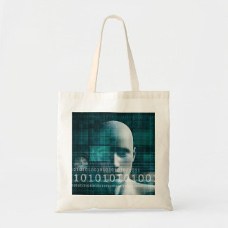 Science Technology Background as a Digital Binary Tote Bag