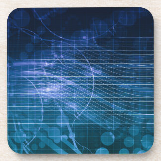 Science Technology Blue Coaster