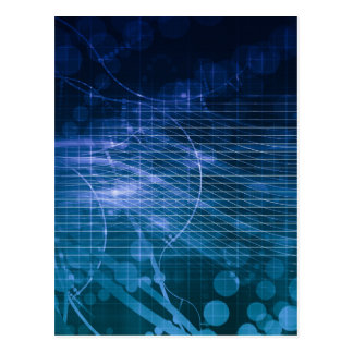 Science Technology Blue Postcard
