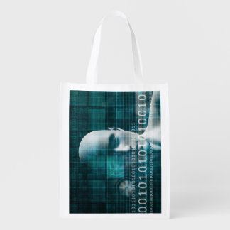 Science Technology Reusable Grocery Bag