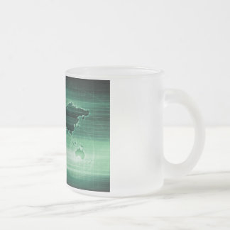 Science Technology Worldwide Research Frosted Glass Coffee Mug