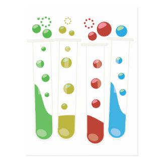 Science Test tubes Postcard
