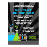 Science Theme Birthday Party 5x7 Paper Invitation Card