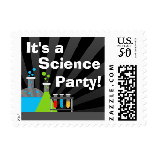 Science Theme Birthday Party Postage