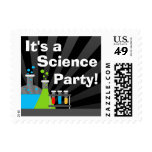 Science Theme Birthday Party Postage Stamps