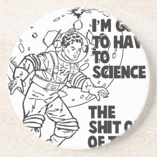 Science this drink coaster