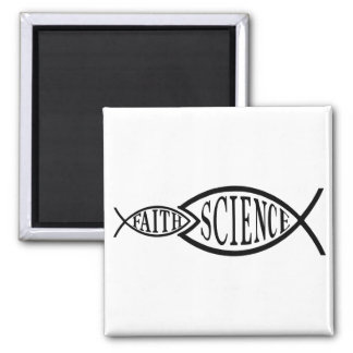Science Trumps Faith Fish Magnets