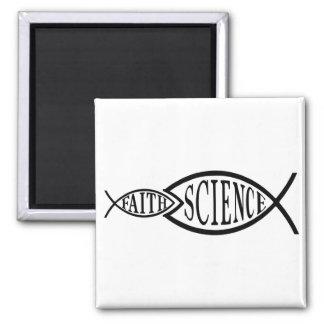 Science Trumps Faith Fish Magnet