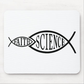 Science Trumps Faith Fish Mouse Pad