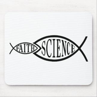 Science Trumps Faith Fish Mouse Pad