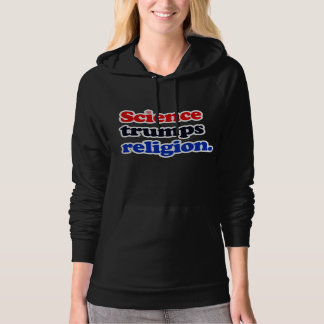 Science trumps Religion - - Pro-Science -- white - Hoodie