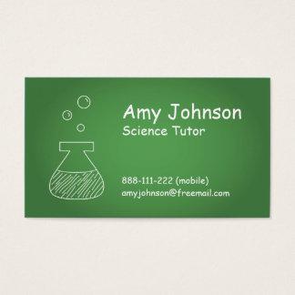 Science Tutor, Tutorial, Laboratory Flask Business Card