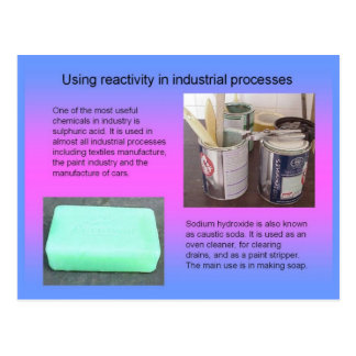 Science, Using Reactivity in industrial processes Postcard
