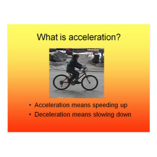 Science What is acceleration Postcard
