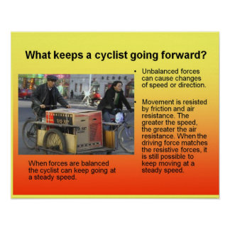Science What keeps a cyclist moving forward? Poster