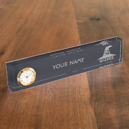 Science Wizard custom color name plate