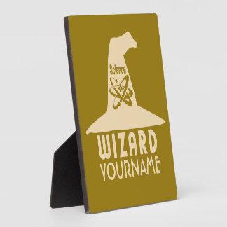 Science Wizard custom color plaque