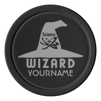 Science Wizard custom poker chips