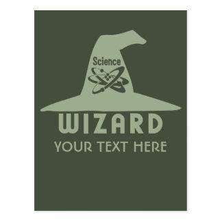 Science Wizard custom postcard