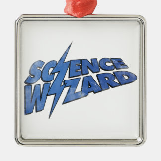 Science Wizard! Square Metal Christmas Ornament