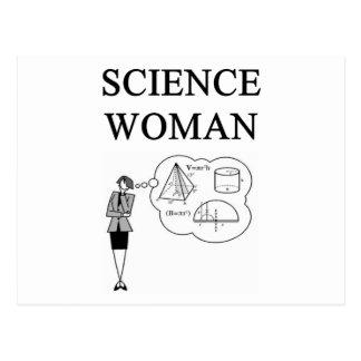 SCIENCE WOMAN POSTCARD