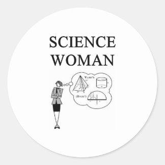 SCIENCE WOMAN STICKER