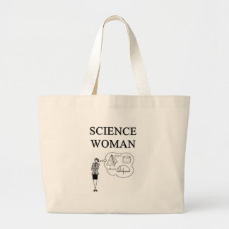 SCIENCE WOMAN TOTE BAGS
