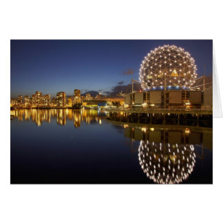 Science World and CBD reflected in False Creek, Card
